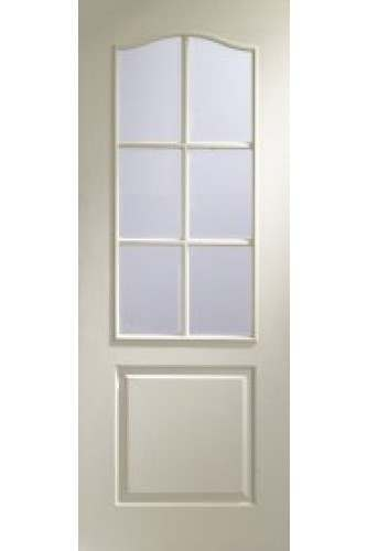 XL Internal Door White Moulded Classique 6 Light Glazed