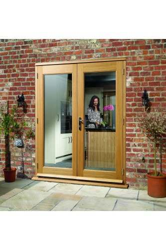 External French Door 4ft Oak La Porte Doorset XL Pre Finished