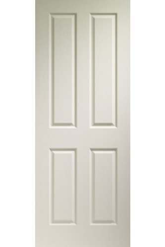 XL Internal Door White Moulded Victorian 4 Panel Fire Door