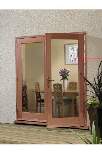 External French Door 5ft Hardwood Meranti La Porte Doorset XL