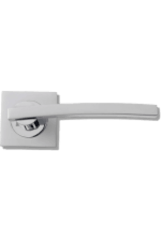 Door Handle Si dual Finish PCP / MC Lever on Square Rose