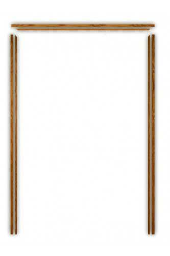 Internal Oak Veneered Door Pair Lining Set XL