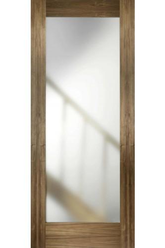 Internal Door Walnut Porto Glazed Contemporary Pre Finished