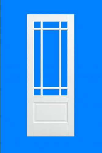 Internal Door White Primed solid Downham LPd  sc 1 st  Oakwood Doors & Internal Door White Primed Downham with Clear Bevelled Glass