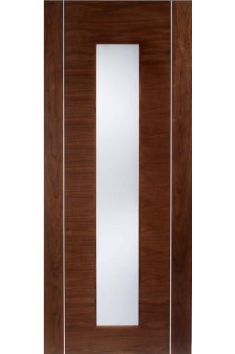 Internal Doors Walnut Alcaraz Frosted Glass LPD