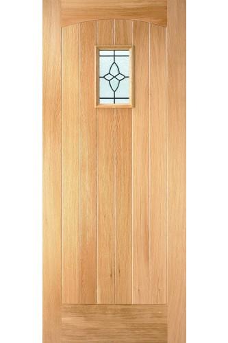 External Door Oak Cottage Lead Double Glazed Dowelled