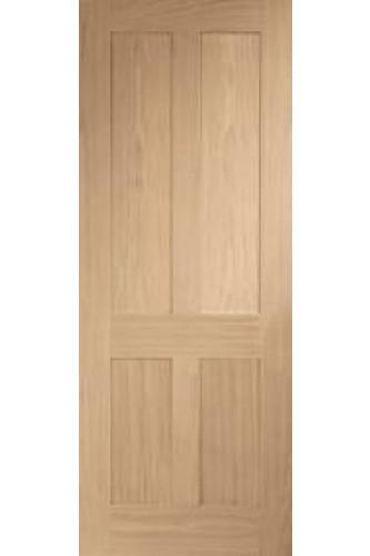 Internal Oak Victorian Shaker 4 Panel Fire Door Untreated