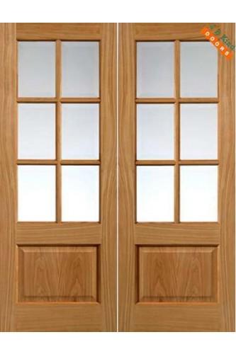 Internal Door Oak Dove Pairs