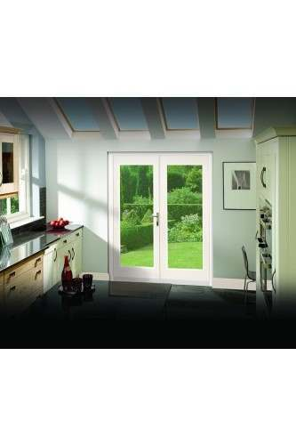 External french door 5ft pre finished white doorset xl for Porte french