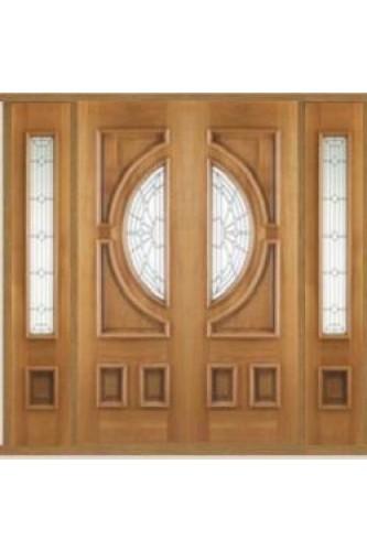 External Oak Door Empress Grand Entrance Kit with Two x Empress Sidelights