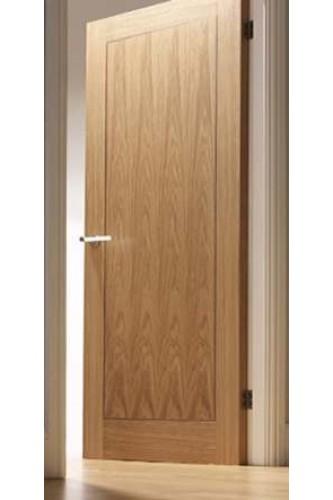 Internal fire door oak inlay 1 panel with walnut inlay pre for 1 panel inlaid oak veneer door