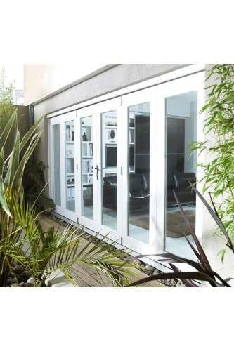 12ft External White Nuvu Pre Finished Folding Door Set 3.6M