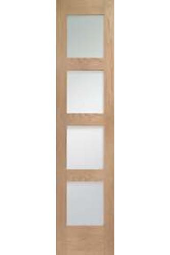 Internal Oak Shaker with Clear Glass Demi Panel