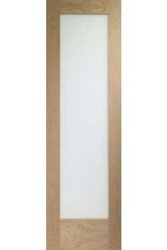 Internal Oak Pattern 10 with Clear Glass Semi Panel