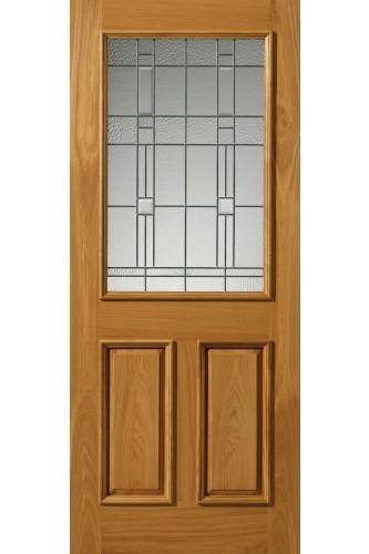 External Oak Thermal L Burgundy Door