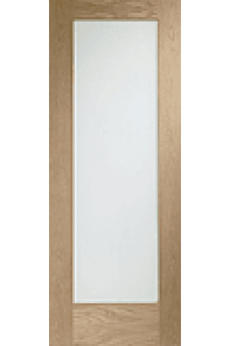 Internal Door Oak Pattern 10 with Clear Glass Prefinished