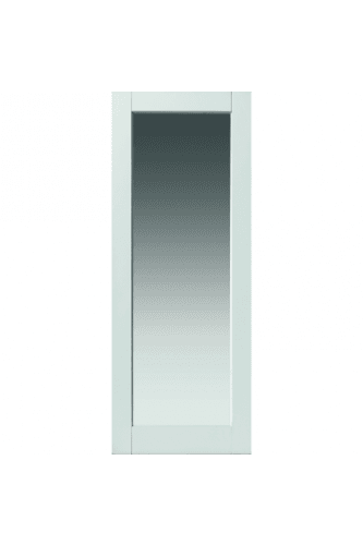 Internal Door White Primed Tobago with Clear Glass 'NEW FOR 2013'