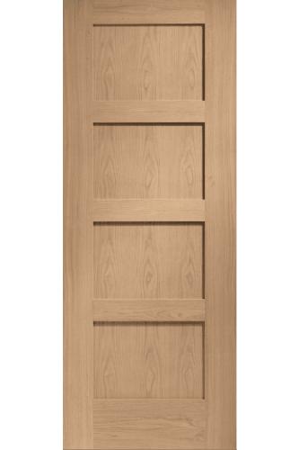 Internal Fire Door Oak Shaker 4 panel Prefinished