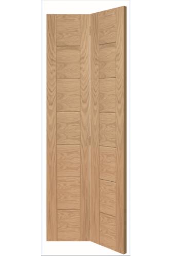 Internal Oak Palermo Bi-fold Door Untreated