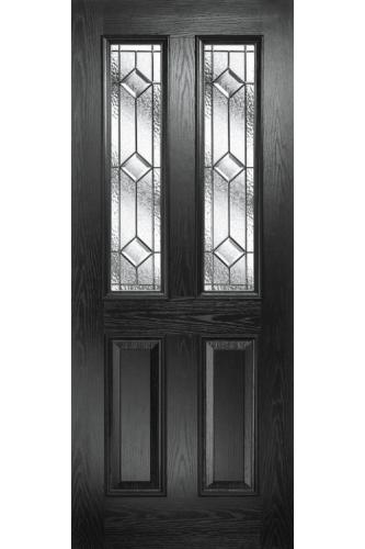 External Pre Hung Malton Composite Door with Decorative Glass