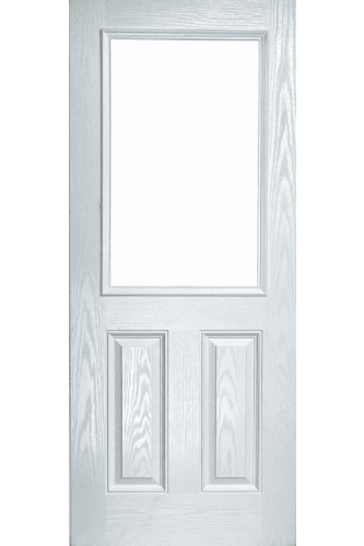 External Pre Hung 2XG Composite Door with Stippolyte Obscure Glass