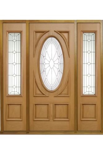 Merveilleux External Door Oak Sovereign Door With 2 X Empress Sovereign Sidelights And Sidelight  Frame Kit