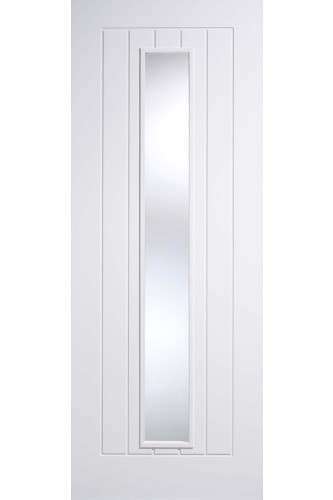 Internal Door White Primed Mexicano 1 Light with Clear Glass Only