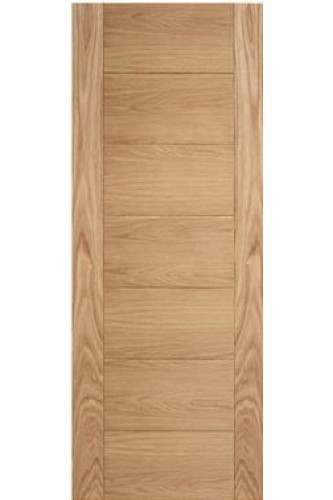 Internal Fire Door Oak Carini  7 Panel Unfinished LPD