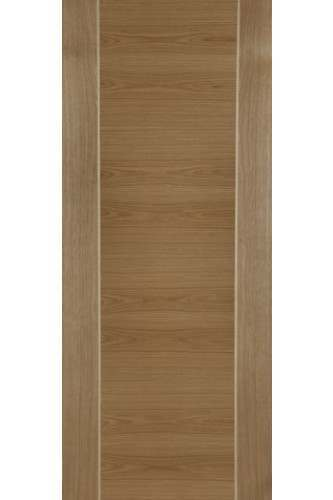 Internal Fire Door Oak Mirage Particle Board Core with Ash Inlays Prefinished