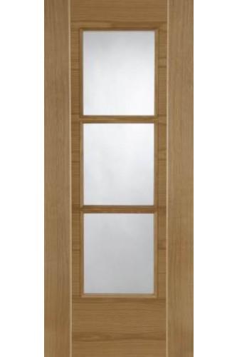 Internal Door Oak Mirage 3 Light Semi Solid Core with Ash inlays Prefinished