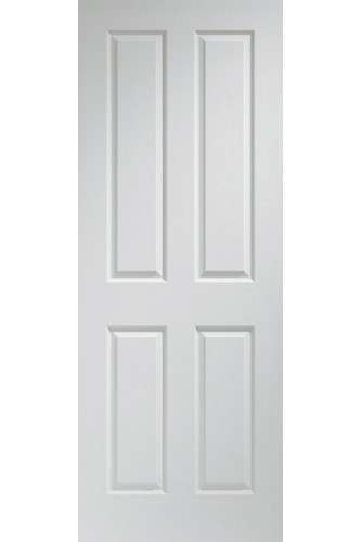 Internal Fire Door White Moulded Textured 4 Panel LPD