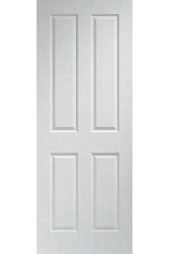 Internal Door White Moulded Textured 4 Panel LPD