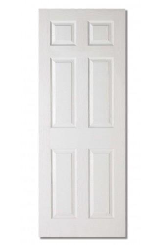 Internal Door White Moulded Textured 6 Panel LPD