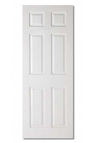Internal Fire Door White Moulded Textured 6 Panel LPD