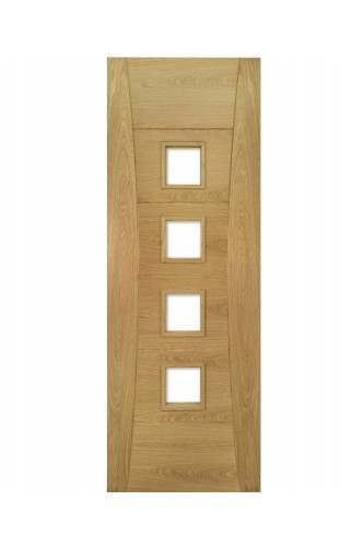 Internal Door Oak Pamplona With Clear Bevelled Glass