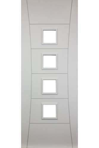 Internal Door Solid White Primed Clear Glazed