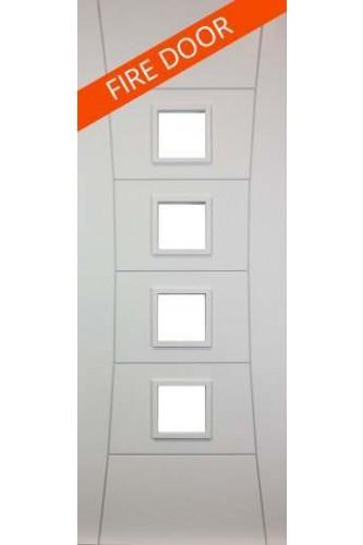 Internal FIRE DOOR Solid White Primed Pamplona Unglazed