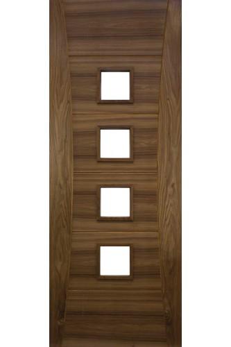 Internal Fire Door Walnut Pamplona unglazed Prefinished  Discontinued