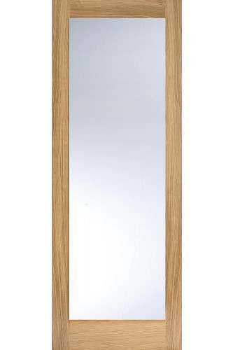 Internal Door Oak Pattern 10 with Clear glass Untreated LPD SPECIAL OFFER