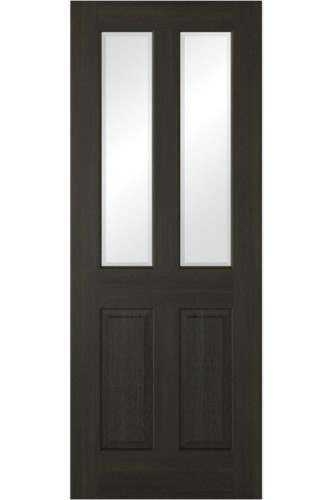 Internal Door SMOKED OAK RICHMOND 2 Panel 2 Light Prefinished