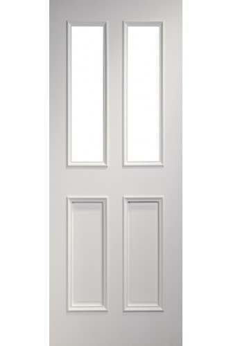 Internal Door Solid White Primed Rochester Clear Glazed