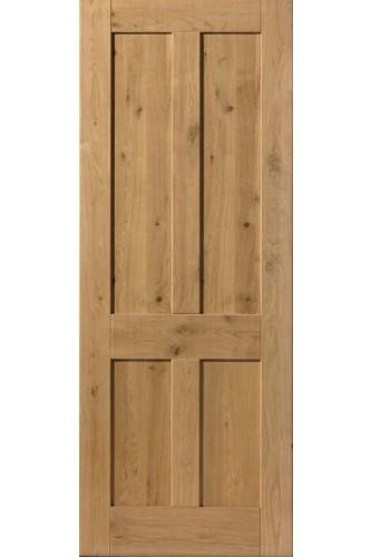 Internal Door Rustic Oak 4 Panel Prefinished