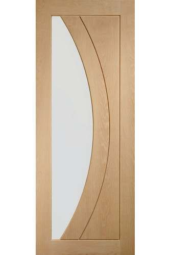 Internal Door oak Salerno with clear glass Untreated