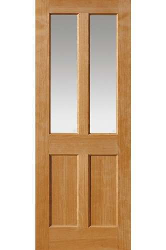 Internal Door Oak Severn with Clear Glass Untreated