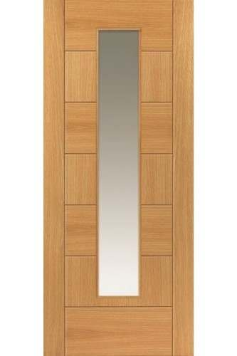 Internal Door Oak Sirocco with Clear Glass Prefinished