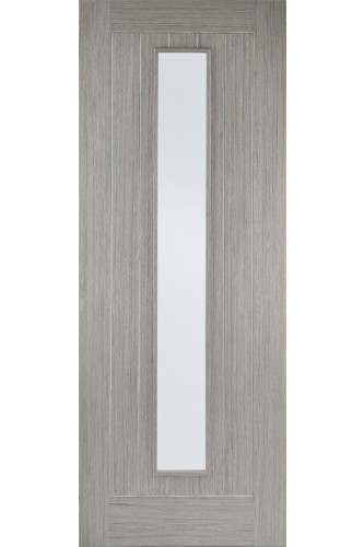 Internal Door Light Grey Stained Somerset 1 Light Clear Glass Prefinished