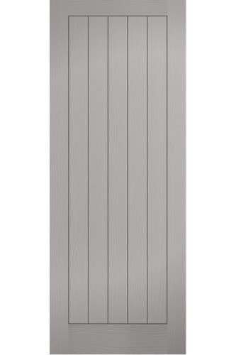 Internal Door Grey Moulded Textured Vertical 5 Panel Prefinished