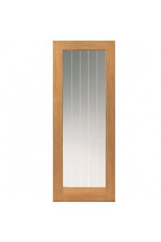Internal Door Oak Thames Original 1 Light with Etched Glass Untreated