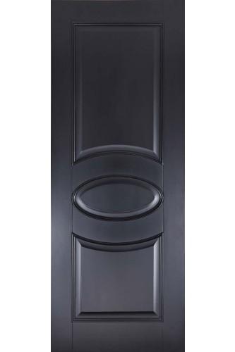 Internal Fire Door Black Versailles Oval Primed Plus