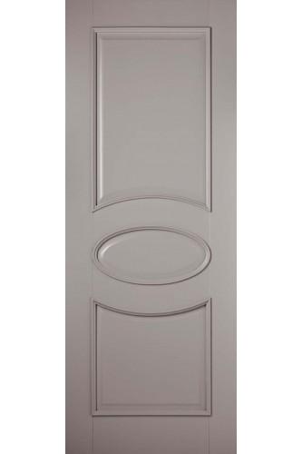 Internal Fire Door Grey Versailles Oval Primed Plus